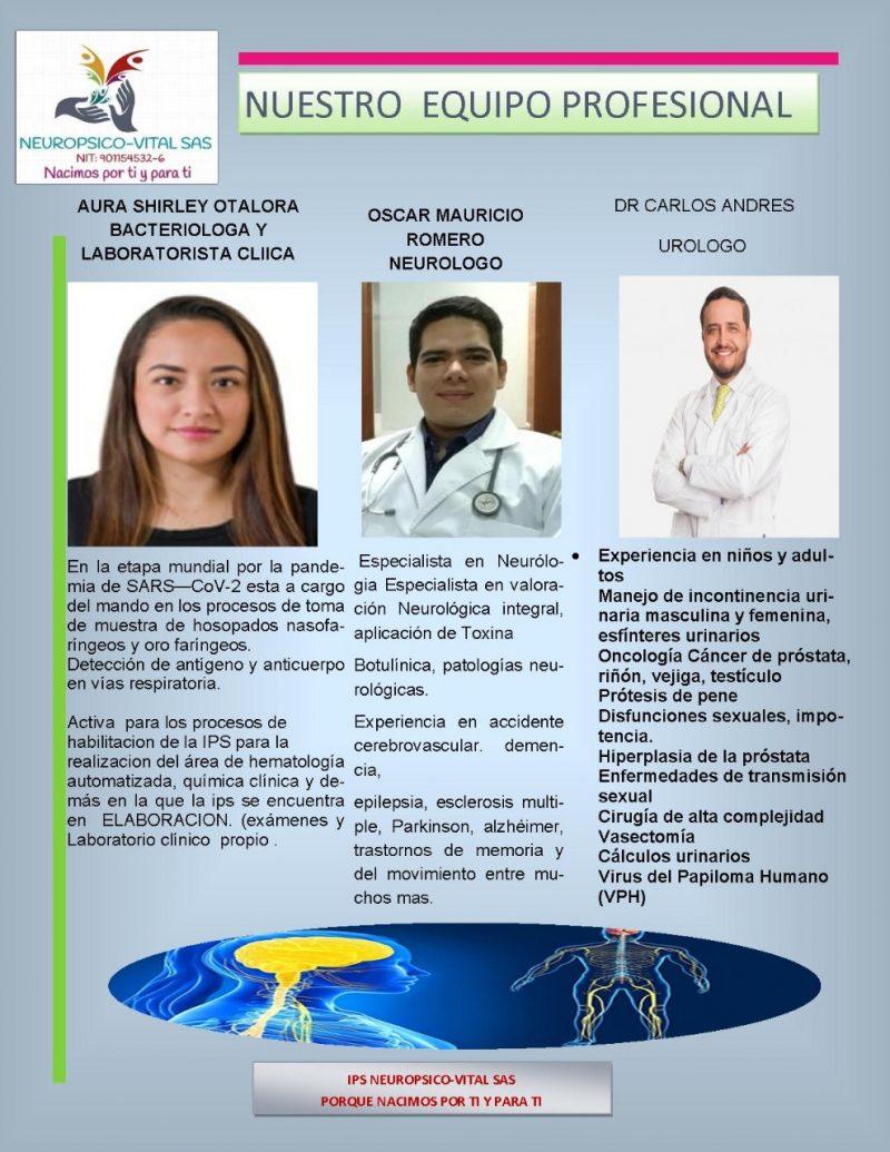 Médicos especialistas de Neuropsico-vital 01
