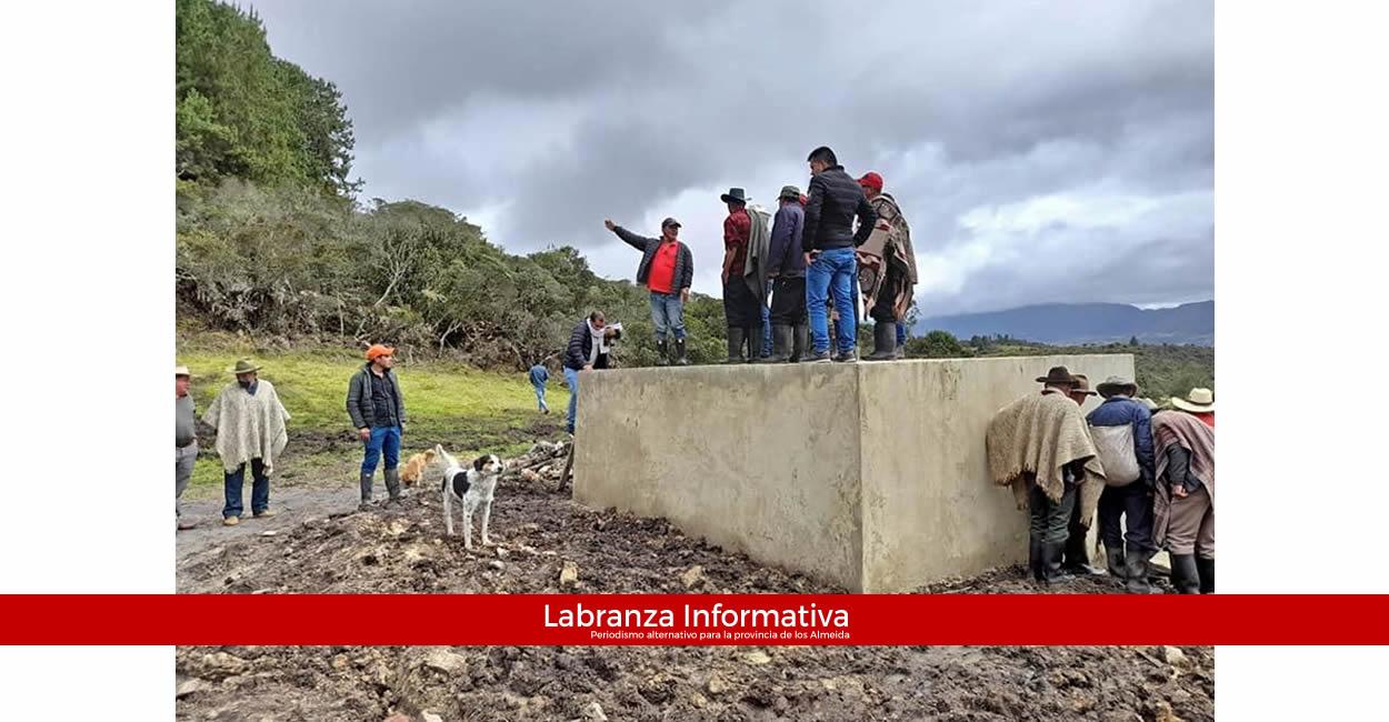 Comunidad en la vereda Solana de Machetá ya cuenta con tanque de reserva