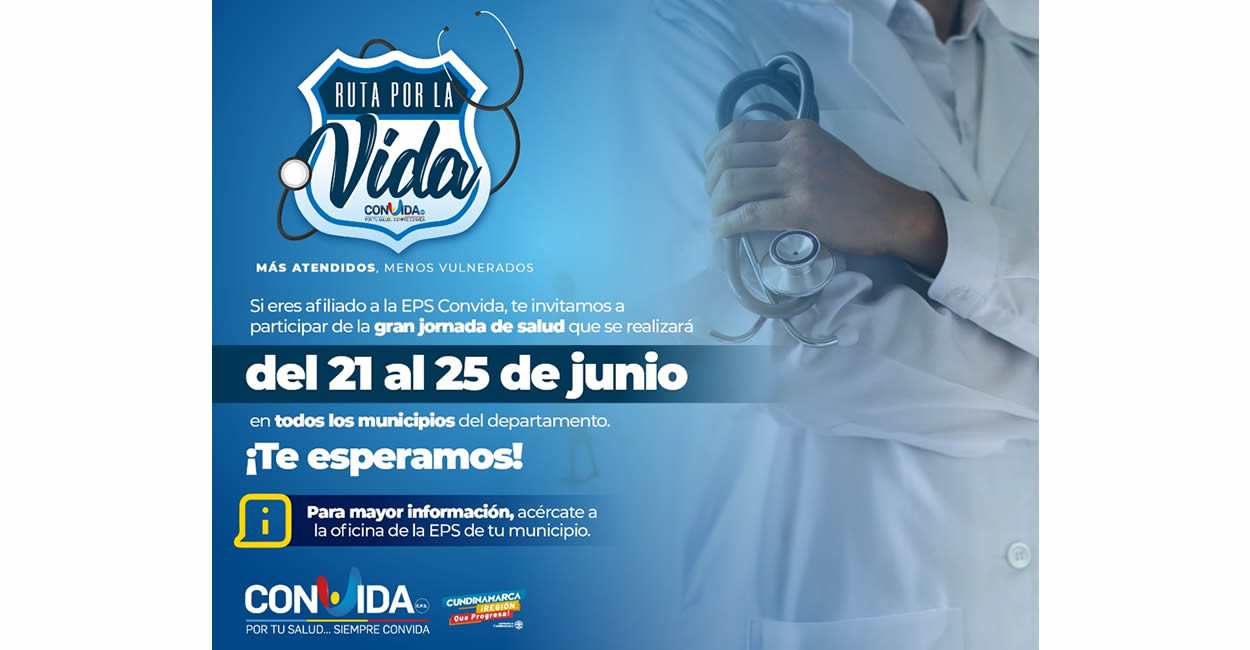 Inicia maratónica 'Ruta por la Vida' en los 116 municipios de Cundinamarca