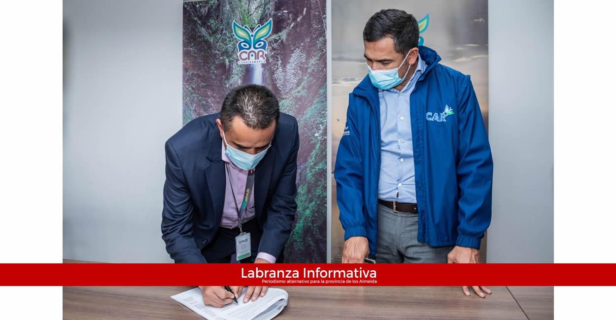 CAR y Alcaldía de Villapinzón firmaron convenio para construcción de Planta de Tratamiento de Aguas Residuales del municipio